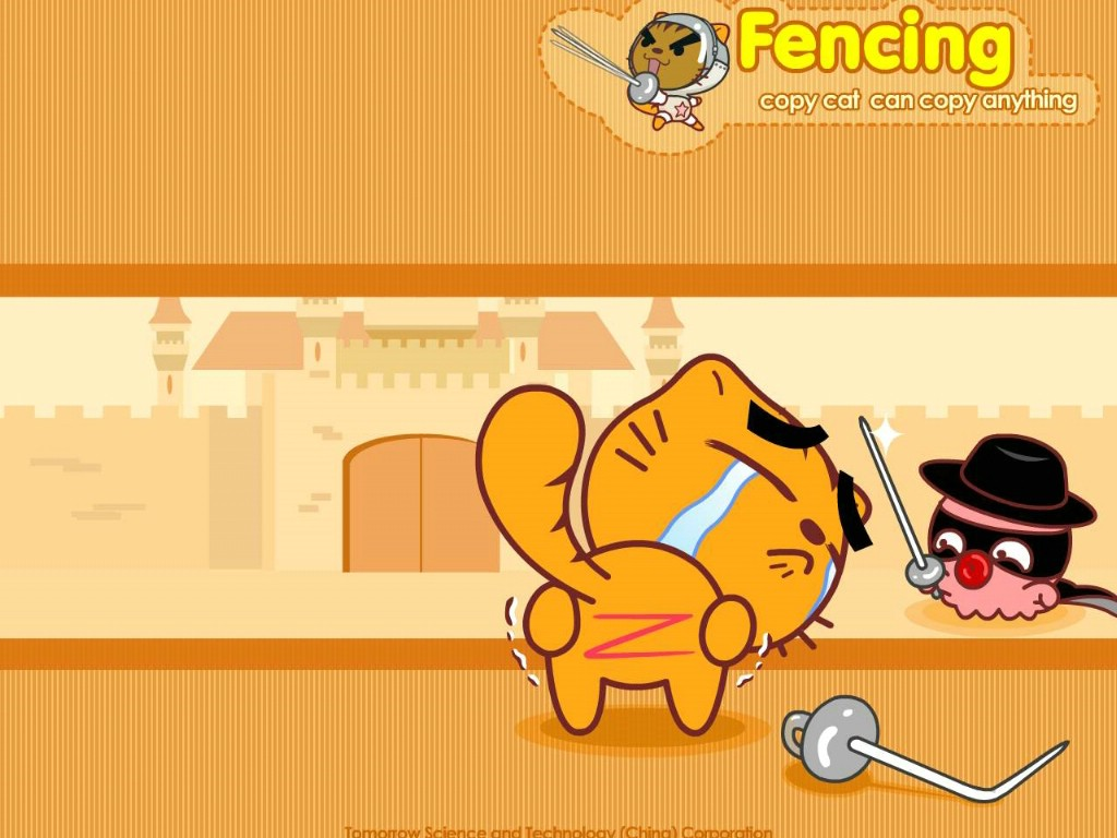 壁纸1024×768copycat 烤猫 可爱卡通壁纸 壁纸158壁纸,copycat(烤猫