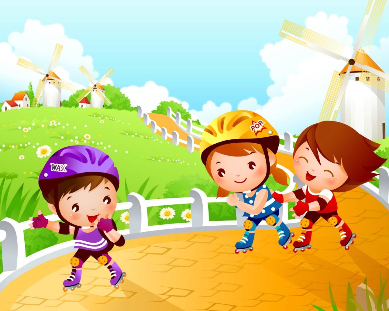 壁纸1280×1024儿童运动会