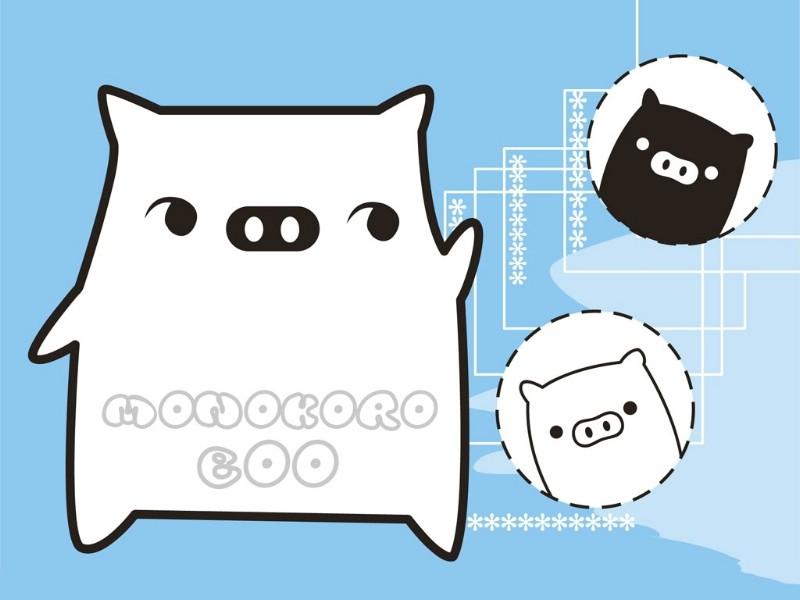 壁纸800×600黑白猪 Mono KuRo BOO 壁纸25壁纸 黑白猪 (Mono壁纸图片动漫壁纸动漫图片素材桌面壁纸