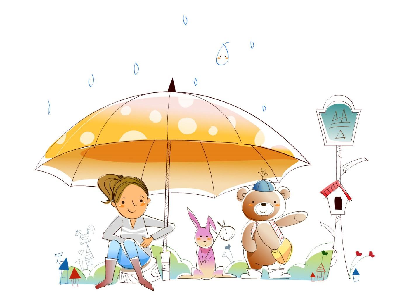 卡通雨伞图片卡通雨伞简笔画图片