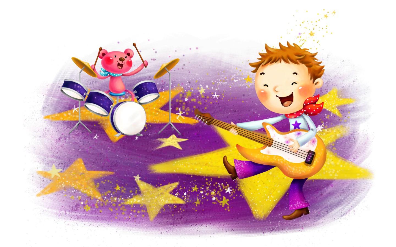 壁纸1440×900六一国际儿童节可爱卡通宽屏壁纸