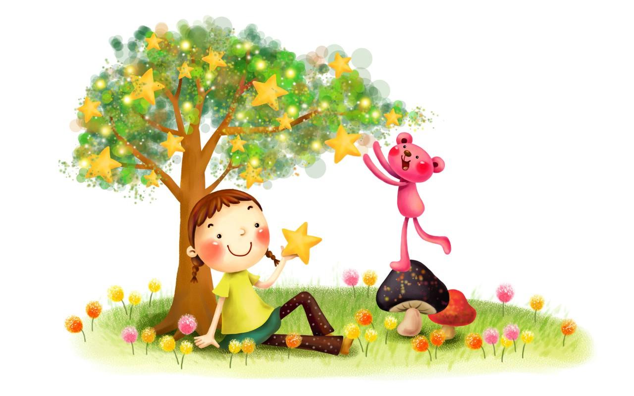 儿童节可爱卡通宽屏壁纸 壁纸20壁纸,六一国际儿童节