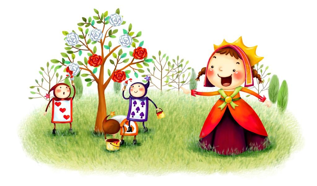 壁纸1024×600六一国际儿童节可爱卡通宽屏壁纸