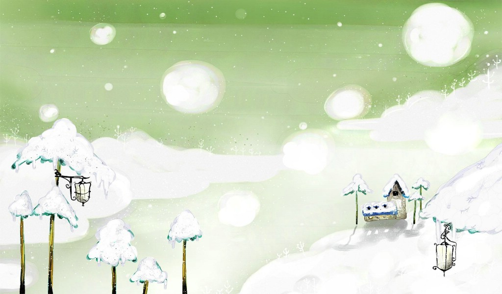 美丽童话风景手绘宽屏壁纸 1920x1200 壁纸30