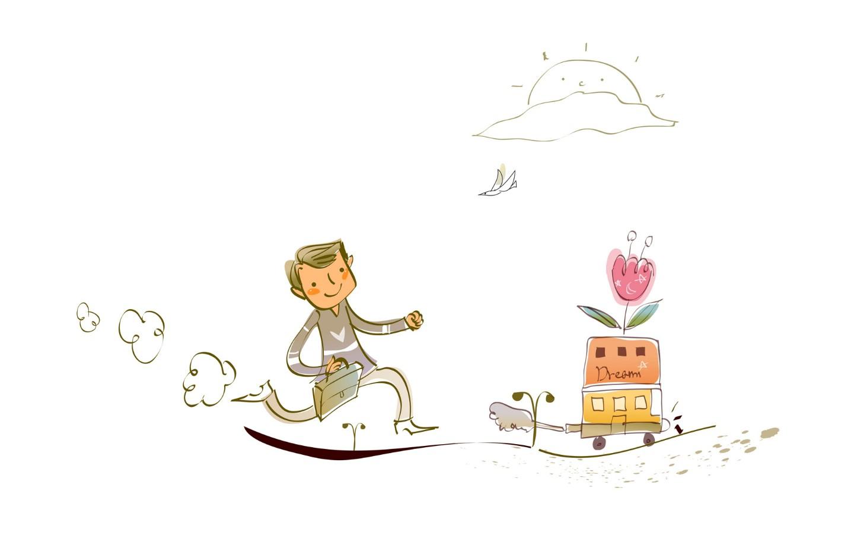 童趣梦想漂亮卡通壁纸