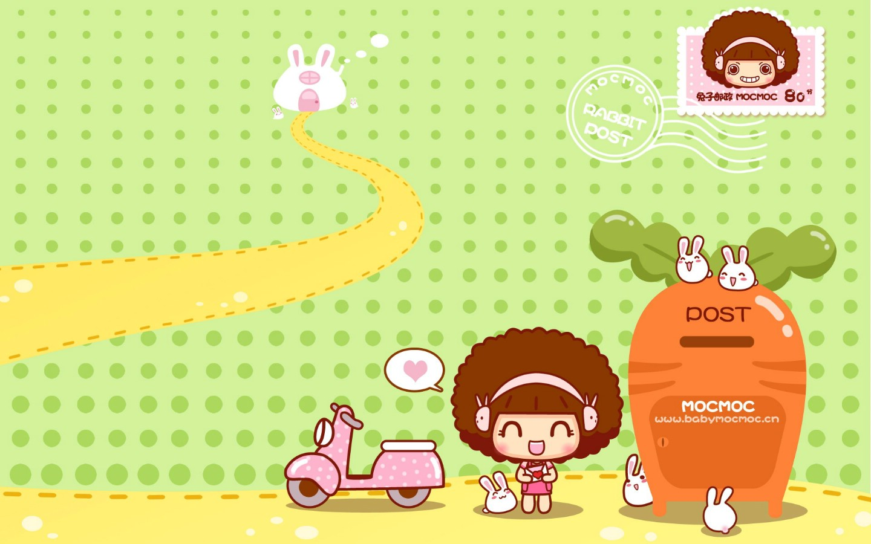 壁纸1440×900Mocmoc可爱卡通壁纸 壁纸2壁纸 Mocmoc可爱卡通壁纸壁纸图片动漫壁纸动漫图片素材桌面壁纸
