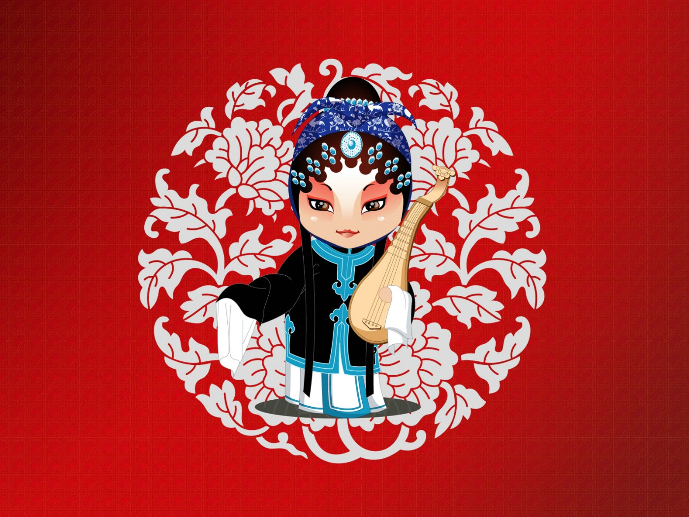 壁纸1400×1050q版京剧人物_乐乐简笔画