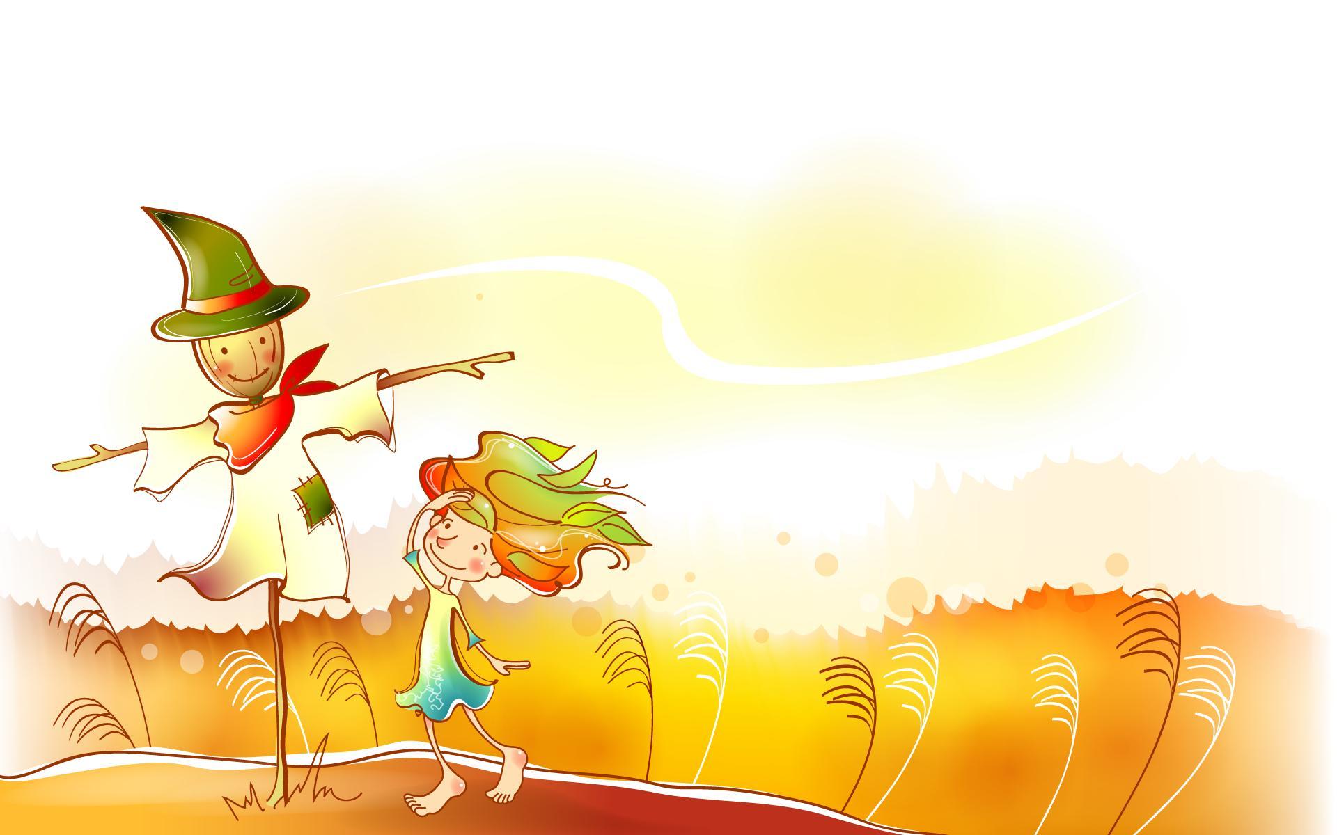 的童话 橙色卡通宽屏壁纸 壁纸15壁纸,秋天的童话