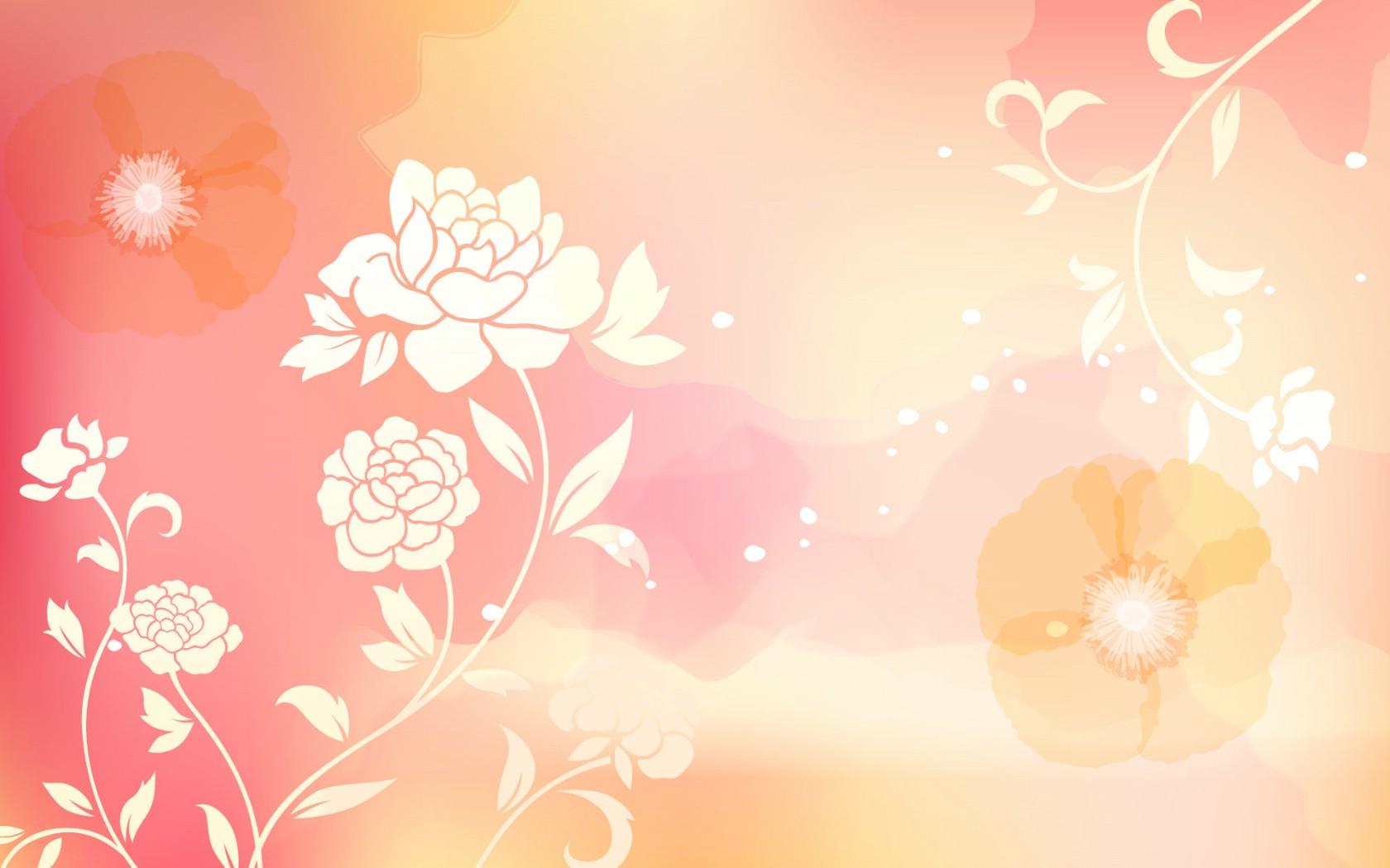 粉色花纹墙纸贴图