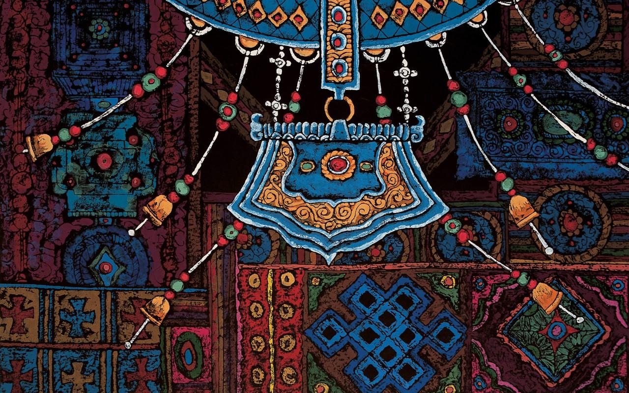 壁纸1280×800藏族祥巴版画 壁纸23壁纸 藏族祥巴版画壁纸图片绘画壁纸绘画图片素材桌面壁纸