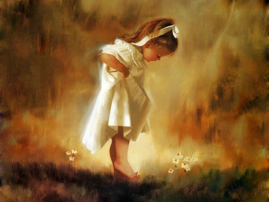 壁纸1024×768令人怀念的美好童年油画壁纸 壁纸2壁纸 令人怀念的美好童年油壁纸图片绘画壁纸绘画图片素材桌面壁纸