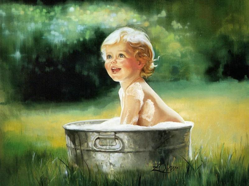 壁纸800×600令人怀念的美好童年油画壁纸 壁纸15壁纸 令人怀念的美好童年油壁纸图片绘画壁纸绘画图片素材桌面壁纸