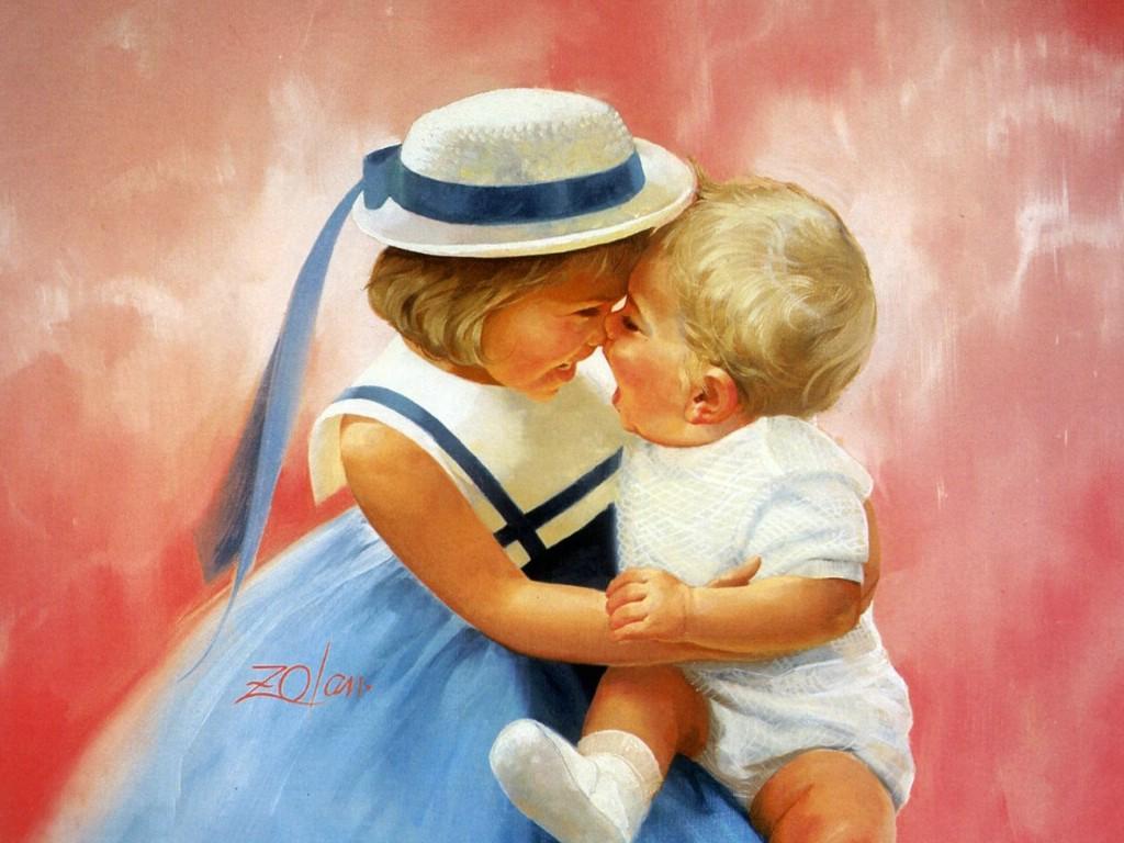 壁纸1024×768令人怀念的美好童年油画壁纸 壁纸16壁纸 令人怀念的美好童年油壁纸图片绘画壁纸绘画图片素材桌面壁纸