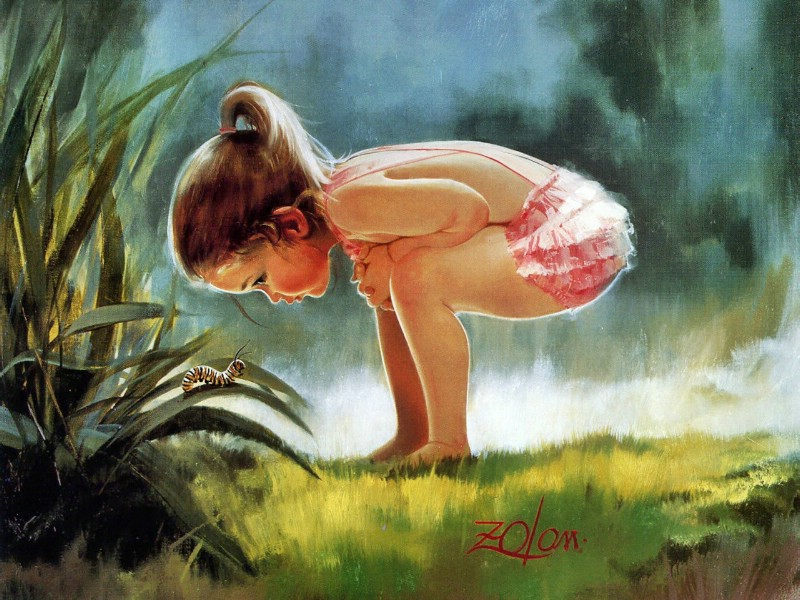 壁纸800×600令人怀念的美好童年油画壁纸 壁纸17壁纸 令人怀念的美好童年油壁纸图片绘画壁纸绘画图片素材桌面壁纸
