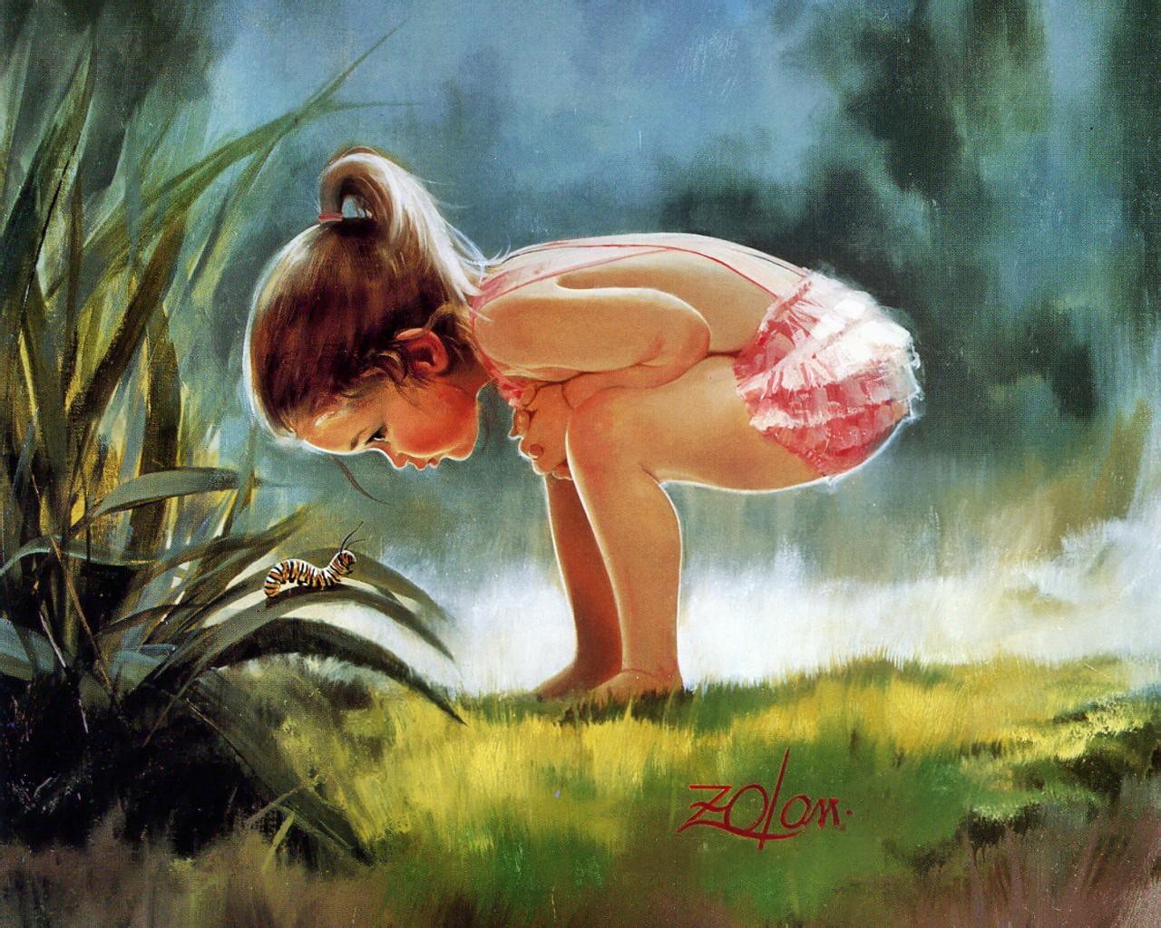 壁纸1280×1024令人怀念的美好童年油画壁纸 壁纸17壁纸 令人怀念的美好童年油壁纸图片绘画壁纸绘画图片素材桌面壁纸