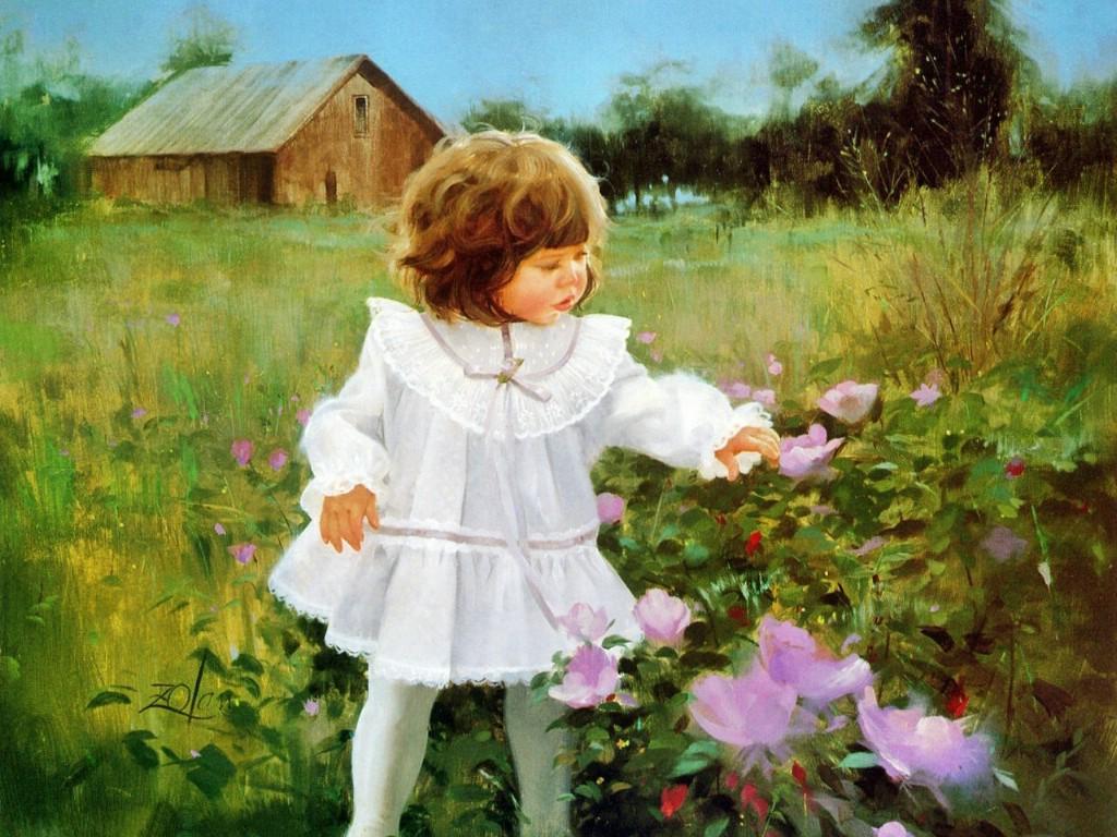 壁纸1024×768令人怀念的美好童年油画壁纸 壁纸30壁纸 令人怀念的美好童年油壁纸图片绘画壁纸绘画图片素材桌面壁纸