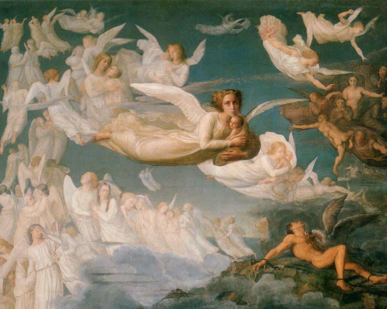 壁纸1280×1024世界名画