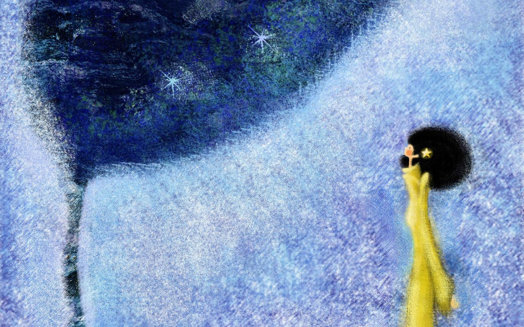 壁纸1680×1050手绘浪漫女孩 壁纸24壁纸 手绘浪漫女孩壁纸图片绘画壁纸绘画图片素材桌面壁纸