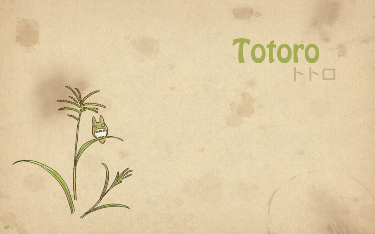 壁纸1280×800Totoro 龙猫 手绘简约版 壁纸1壁纸 Totoro(龙猫)壁纸图片绘画壁纸绘画图片素材桌面壁纸