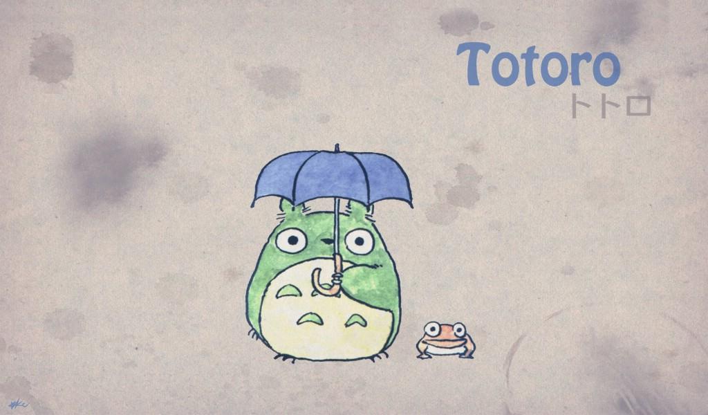 壁纸1024×600Totoro 龙猫 手绘简约版 壁纸2壁纸 Totoro(龙猫)壁纸图片绘画壁纸绘画图片素材桌面壁纸