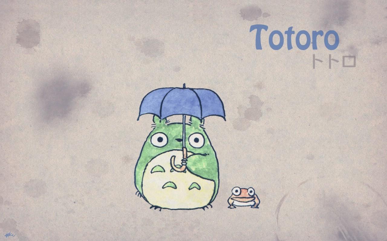 壁纸1280×800Totoro 龙猫 手绘简约版 壁纸2壁纸 Totoro(龙猫)壁纸图片绘画壁纸绘画图片素材桌面壁纸
