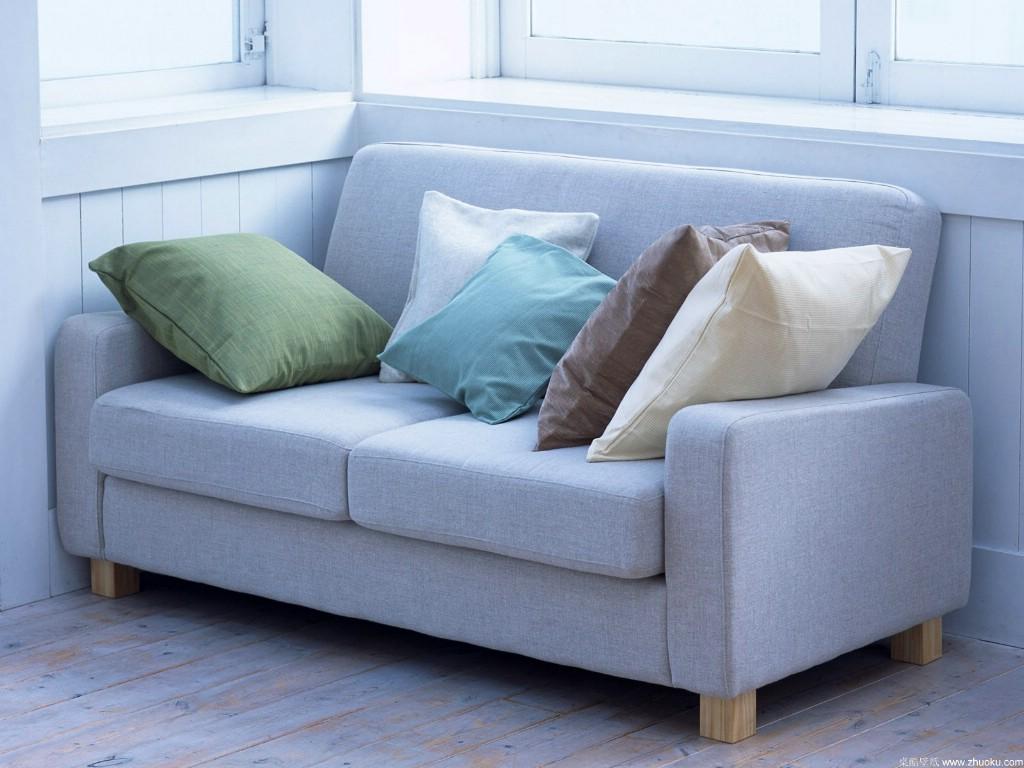 二人沙发布艺 精品家居饰物搭配效果桌面壁纸63款 高清图片