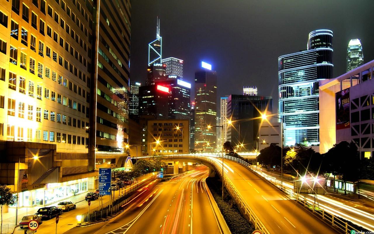 广州夜景1280x800