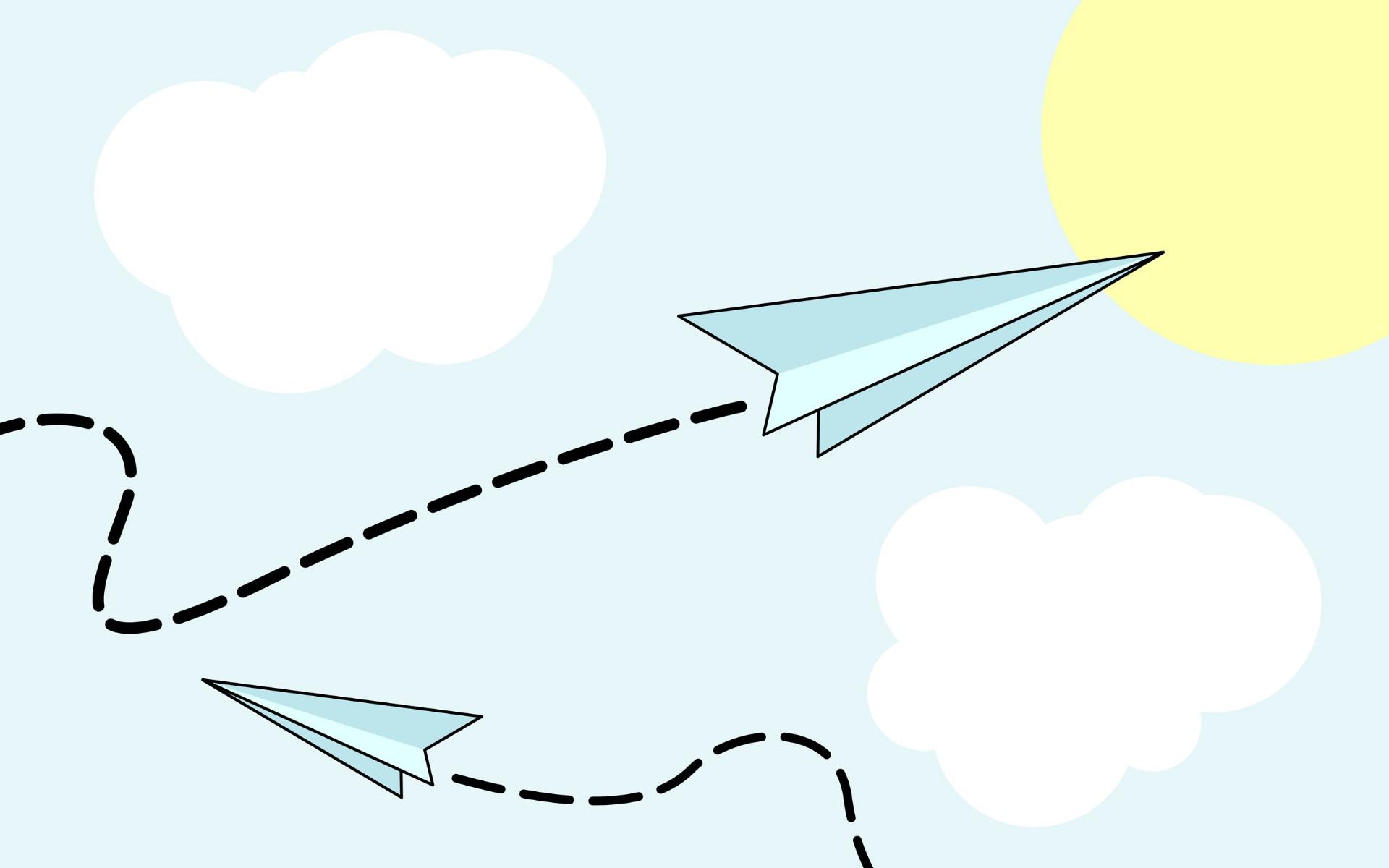 飞机可爱超级简笔画