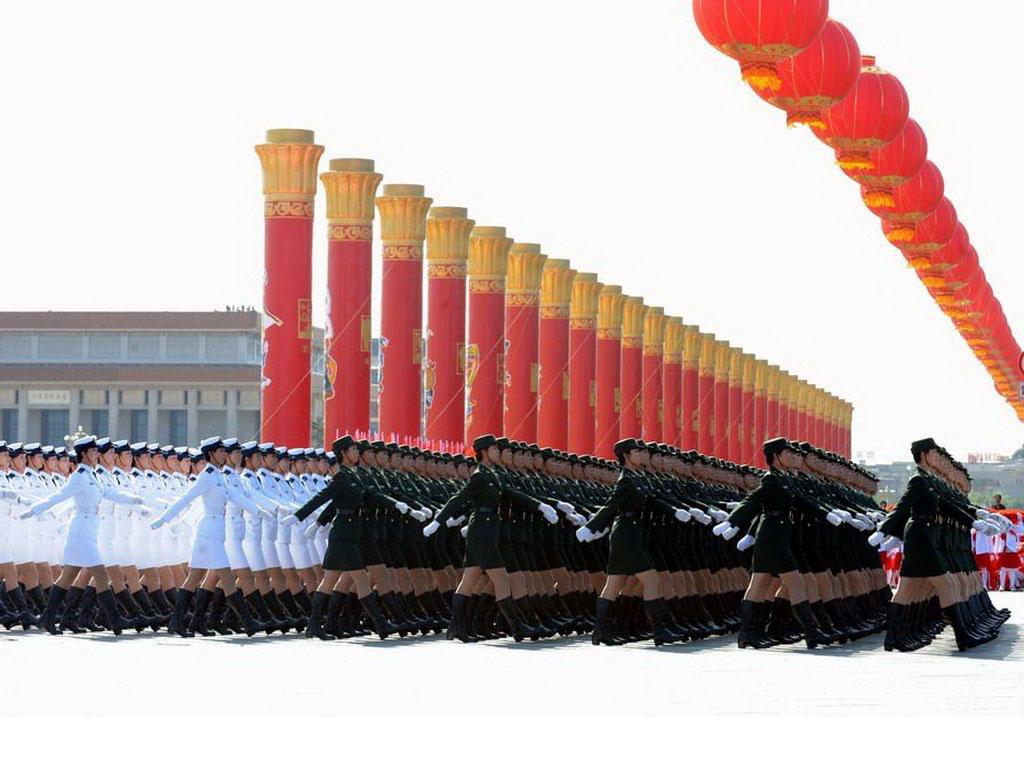 壁纸1024×7682009年国庆大阅兵女兵风姿壁纸 壁纸22壁纸 2009年国庆大阅兵壁纸图片军事壁纸军事图片素材桌面壁纸