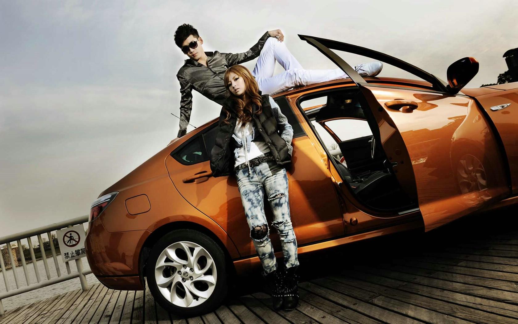 壁纸16壁纸 名爵mg6美女模特壁纸图片汽车壁纸汽车