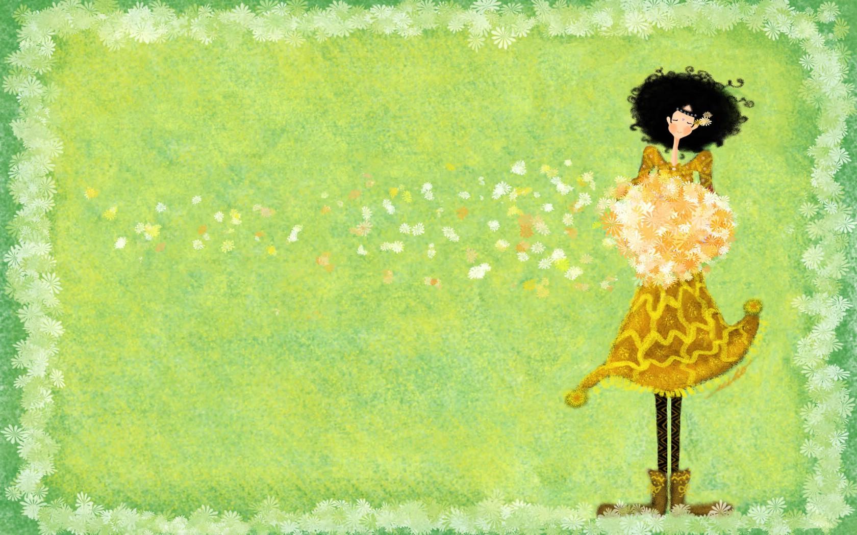 女孩的秘密梦花园宽屏壁纸