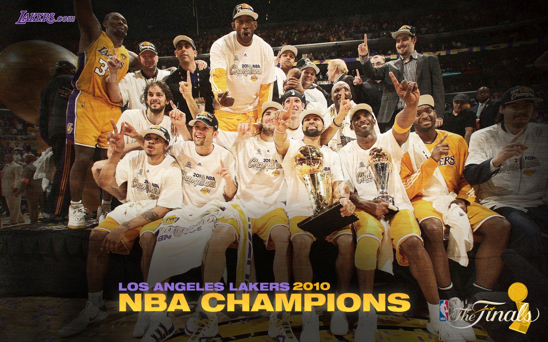 洛杉矶湖人 2010NBA季后赛和总决赛冠军壁纸