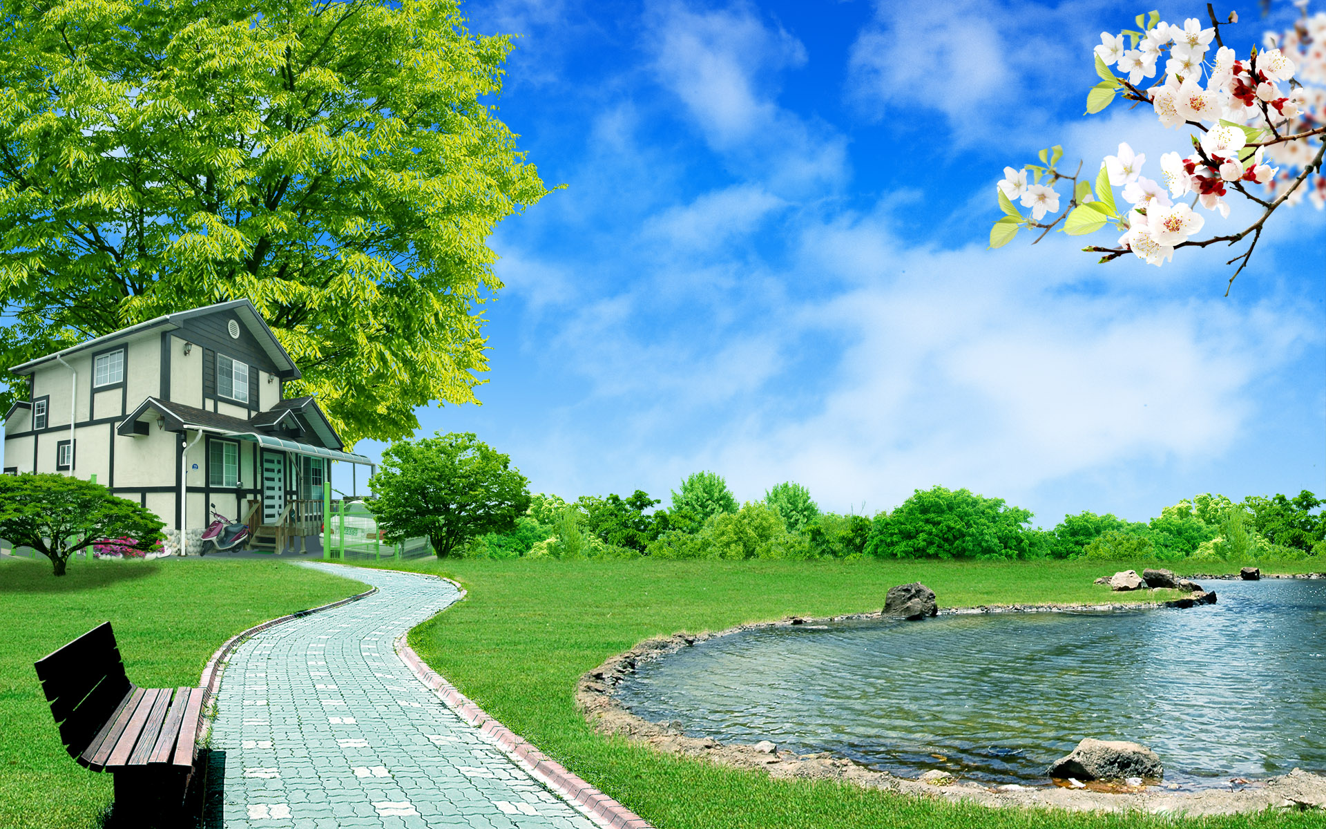 壁纸1920×1200梦想家园 最美好的日子宽屏壁纸 壁纸9壁纸 梦想家园:最美好的日壁纸图片系统壁纸系统图片素材桌面壁纸