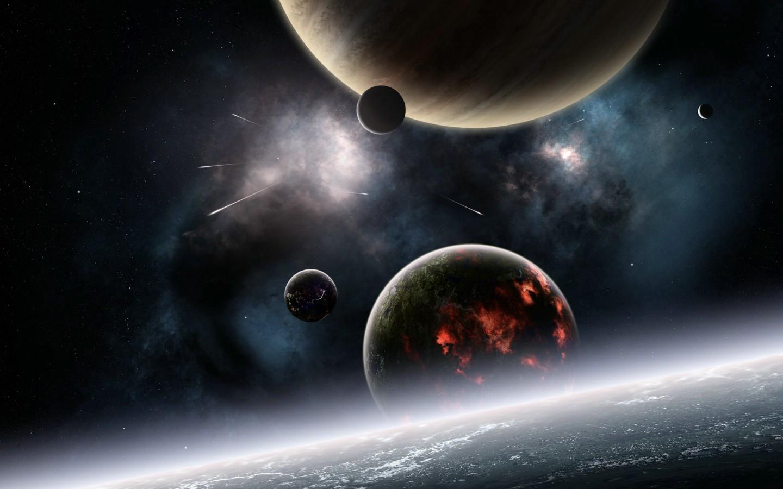 外太空天体黑暗主题壁纸设计图 风景漫画 动漫动画